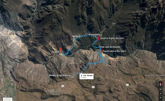 1ra parte del trekking. Desde el mirador San Miguel al Oasis de Sangalle