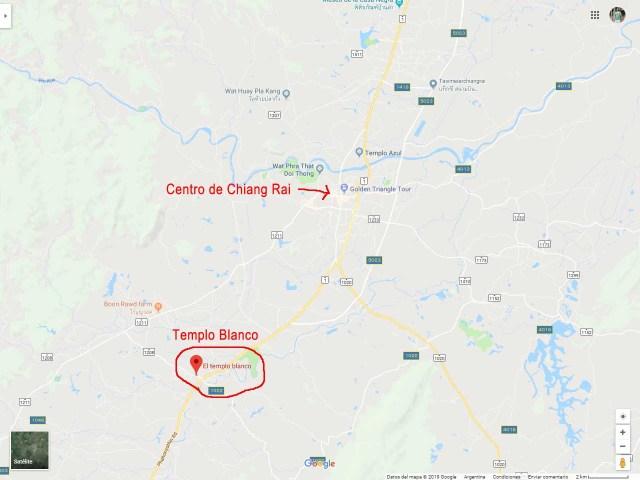 Mapa de ubicación del Templo