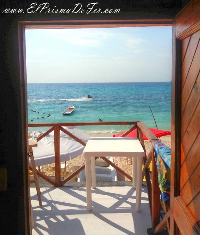 Vista desde la Cabaña en Playa Blanca