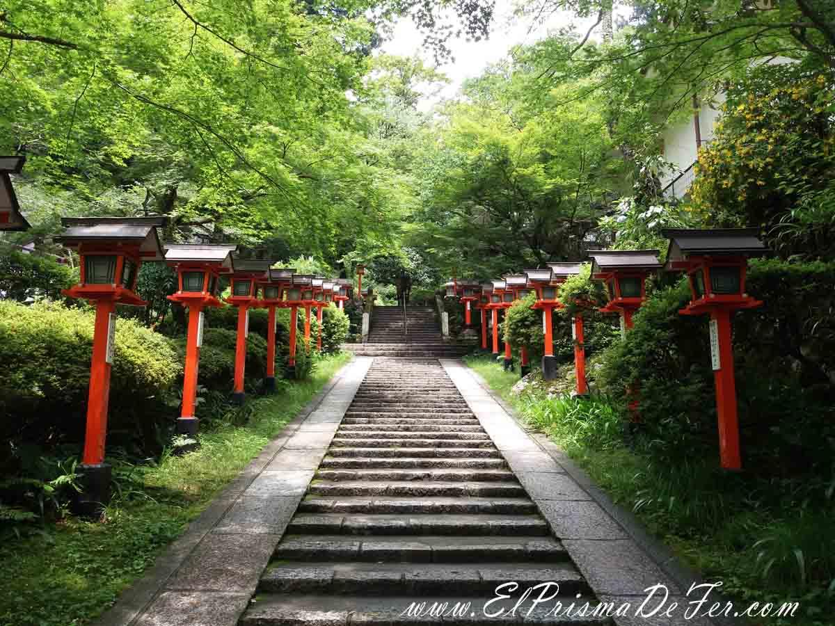 Camino entre Kibune y Kurama