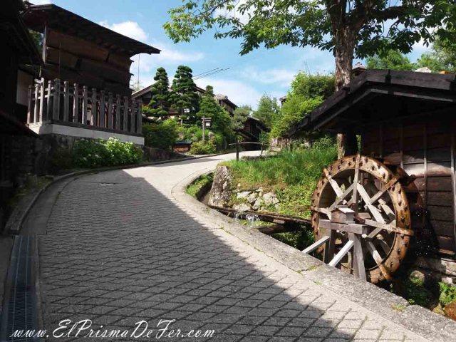 Pueblo de Tsumago al final de la Ruta Nakasendo