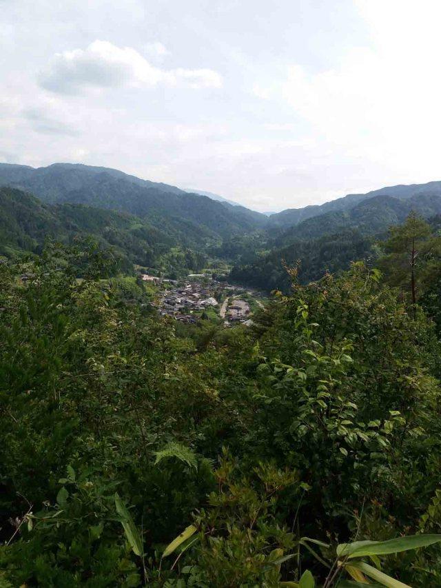 Vistas desde la colina donde están las Ruinas del Castillo de Tsumago