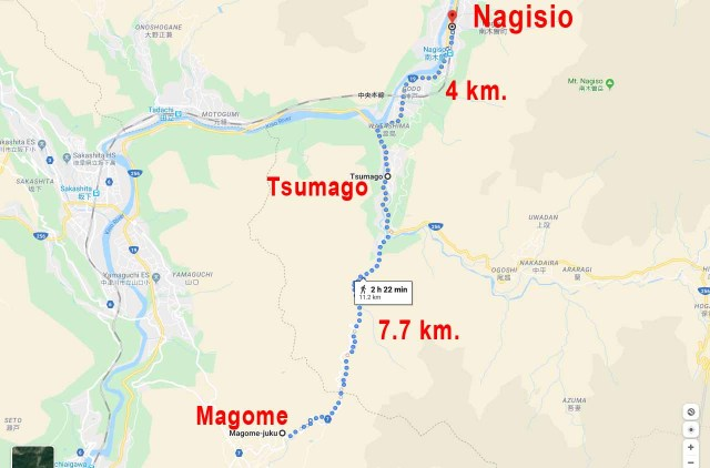 Recorrido de la Ruta Nakasendo