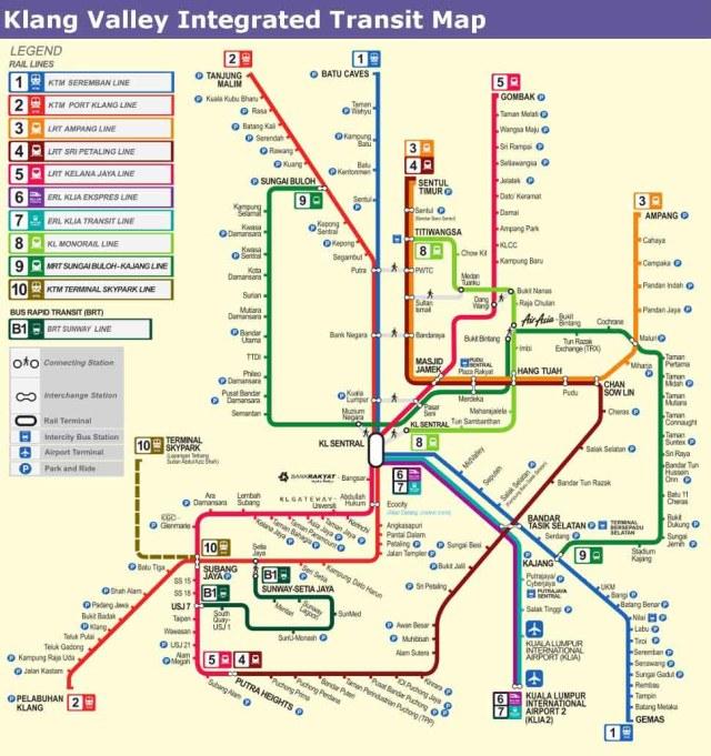 Mapa de Transporte de Kuala Lumpur