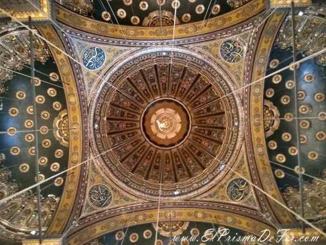 La decoración de los techos de la Mezquita de Alabastro