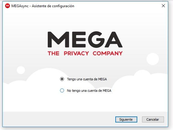 registrarse en MEGA