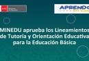 MINEDU aprueba los Lineamientos de Tutoría y Orientación Educativa para la Educación Básica.