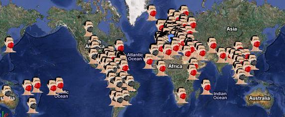 mapa gripe mundial