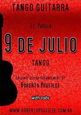 Tapa de Nueve de julio tango partitura de guitarra