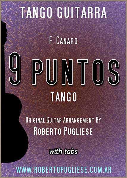 Tapa de Nueve puntos tango partitura de guitarra