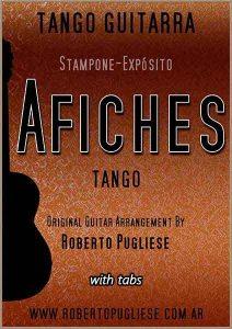 Tapa de la partitura Afiches tango para guitarra