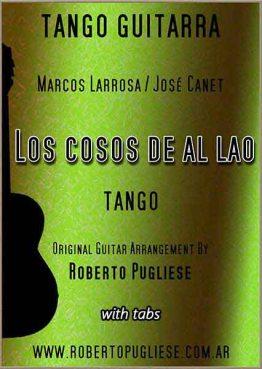 Los cosos de al lao - tapa de la partitura para guitarra, arreglo del maestro argentino Roberto Pugliese