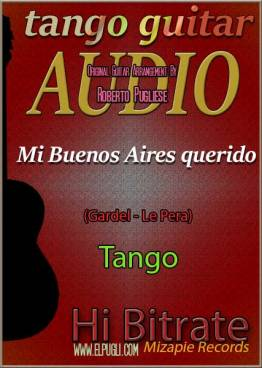 Mi Buenos Aires querido mp3 tango en guitarra por Roberto Pugliese