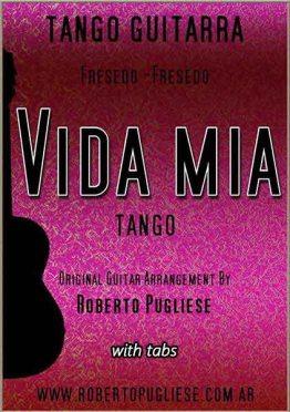 Tapa Vida mia Tango partitura de guitarra
