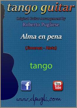 Alma en pena tango partitura de guitarra