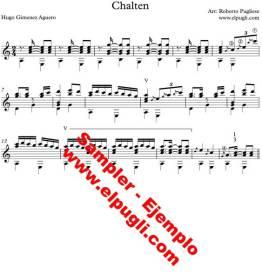 Chaltén partitura para guitarra por Roberto Pugliese