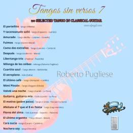 Cover B Tangos sin versos 7. Cd tango en guitarra por Roberto Pugliese