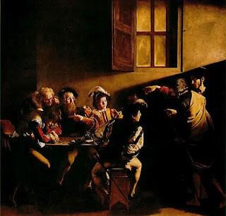 publicanos, escribas, antiguo testamento, biblia, el llamado de san mateo por carvaggio
