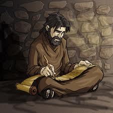 Pablo preso, encarcelado escribiendo epistolas, comentario