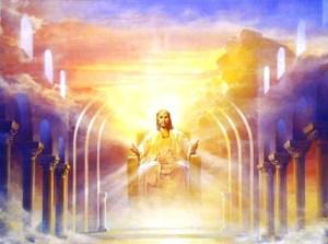 trono, jesús, cielo, donde