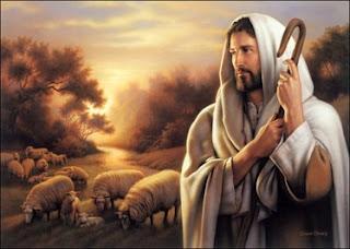 Jesús, mesias, salvador, ovejas, pastor, bosquejo