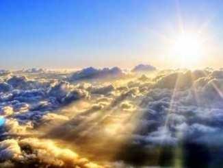 sol, nubes, Dios