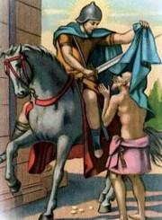 martin tours, capellania, inicios, soldado, mendigo