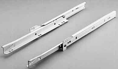 Drawer Runner - Bottom Mount- White Coated and 20kg Rated