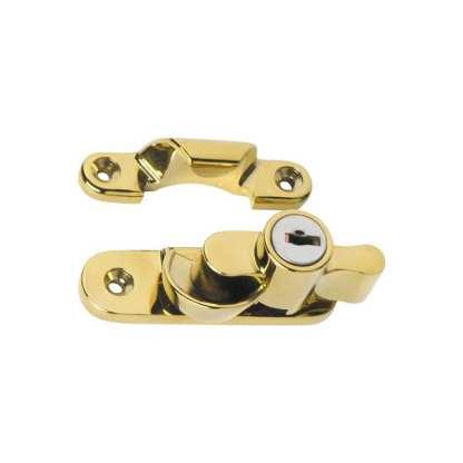 1606 - Sash Fastener - Locking - Polished Brass 1