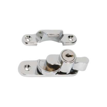 1609 - Sash Fastener - Locking - Satin Chrome 1