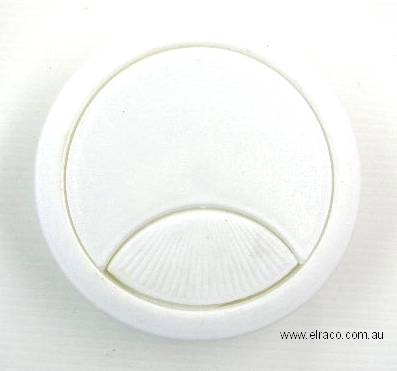 Cable Entry Cover - Plastic 60mm -  White 1