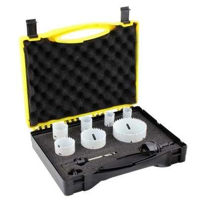 Holesaw Set 9 Piece - Electrician Kit -Bi-Metal -Made In Usa 1