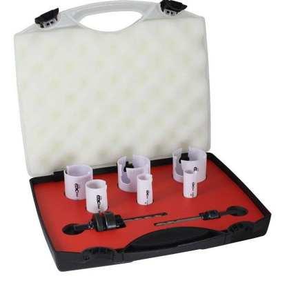 Holesaw Set 8 Piece - Plumbers Kit -Tungsten Carbide Tip -Made In Usa 1