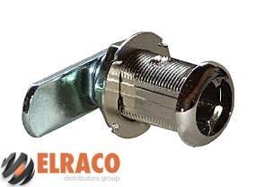 Cam Lock Housing 17mm Long 19mm Diameter Cylinder. Nickel Plated 1