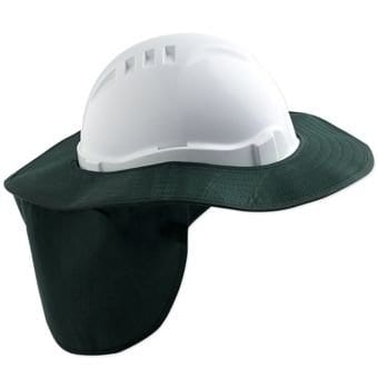 Safety Cap Brim -  Green  - Detachable 1