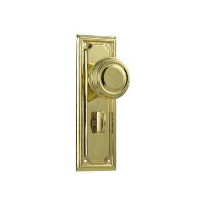 Tradco 1056P - Edwardian Knob Privacy - Polished Brass - 185x60mm 1