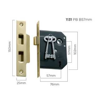 Mortice locks with Traditional key 19