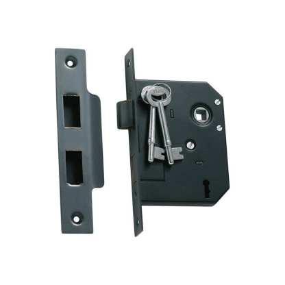 1141 - Mortice Lock - Antique Copper - 57mm Backset 1