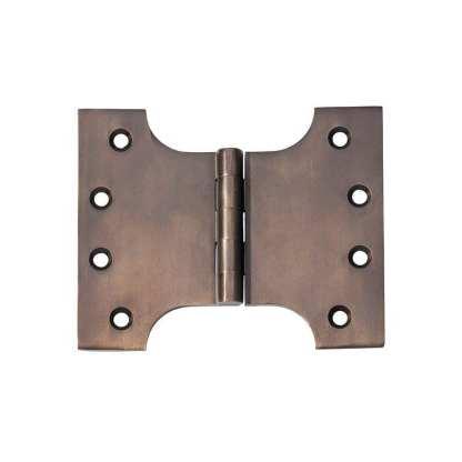 2381 Hinge - Parliament Hinge - Antique Brass - 100x125x4mm 1