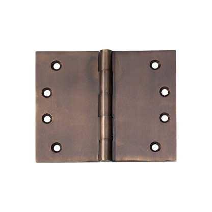 2390 Hinge - Broad Butt Hinge - Antique Brass - 100x125x4mm 1