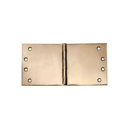 2493 Hinge - Broad Butt Hinge - Polished Brass - 100x200x4mm 1