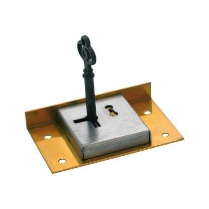 4007 - Drawer / Till Lock - 76x48mm - Solid Brass 1
