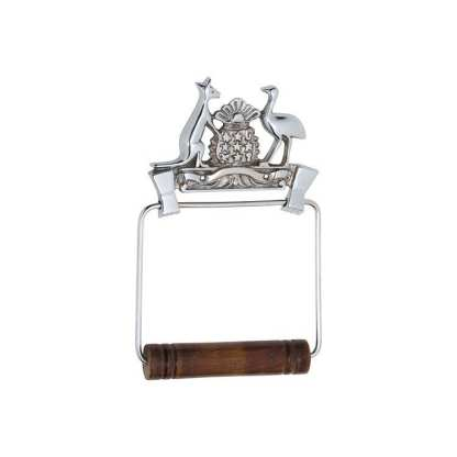 4869 - Toilet Roll Holder - Coat of Arms -  Chrome Plate 1