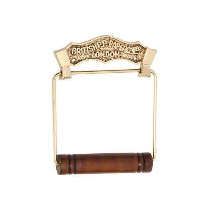 4882 - Toilet Roll Holder - British - Polished Brass 1