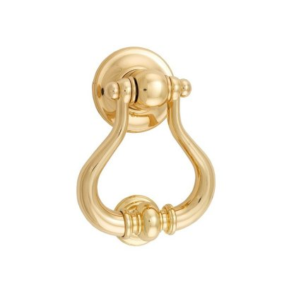 9390 - SARLAT DOOR KNOCKER Polished Brass 1