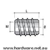 Insert Nut M4 Thread - 8mm Overall Length 2