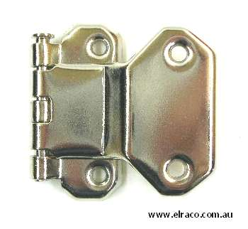 Fold Over Hinge - 35x40mm - Nickel Plated 1