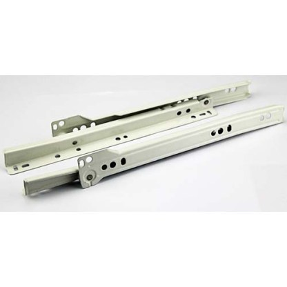 Drawer Runner 550mm. Bottom Mount. White. 30kg Rated 3