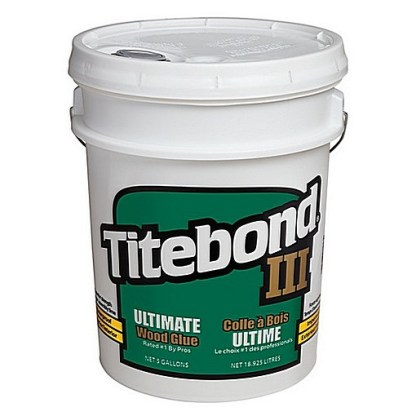 Titebond 3 Ultimate 19lt - Waterproof Cross-linking PVA - Light tan colour