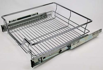 Pull-Out Wire Drawer. 500mm Module. Basket 395mm(W)X140mm(H). Chrome Finish 1